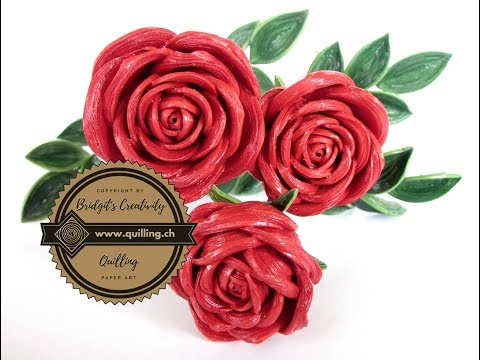 Quilling rose origami how to make paper quilling rose videos quilling rose tutorial quilling rose part 1 paper flower mightylinksfo