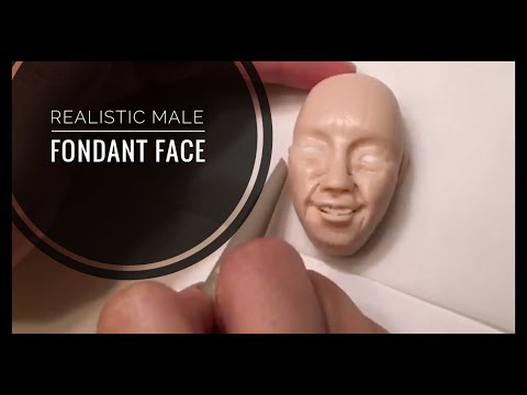 Realistic Male Fondant Face - How to Model - Topper Part 2 of 2: Timelapse Tutorial