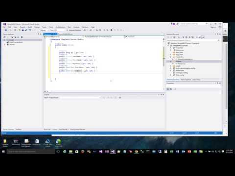 REST Intro - Data Model - Build a REST Service in Visual Studio 2015 Part 2