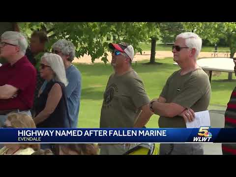 Portion of I-75 dedicated to fallen Marine