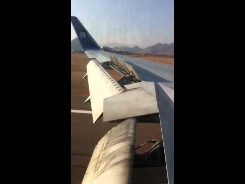 Thomas cook flight from Manchester landing at Sharm el sheikh airport