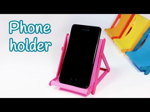 DIY crafts: PHONE HOLDER (beach chair) from ice cream sticks - Innova Crafts