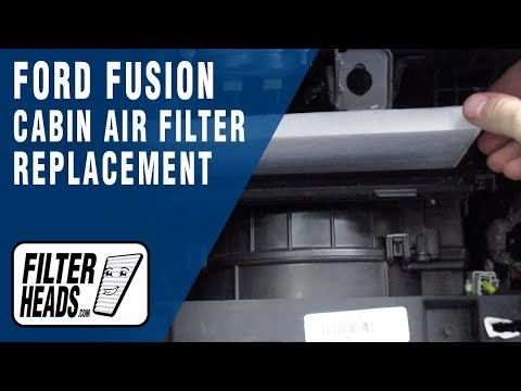 How to Replace Cabin Air Filter 2013 Ford Fusion