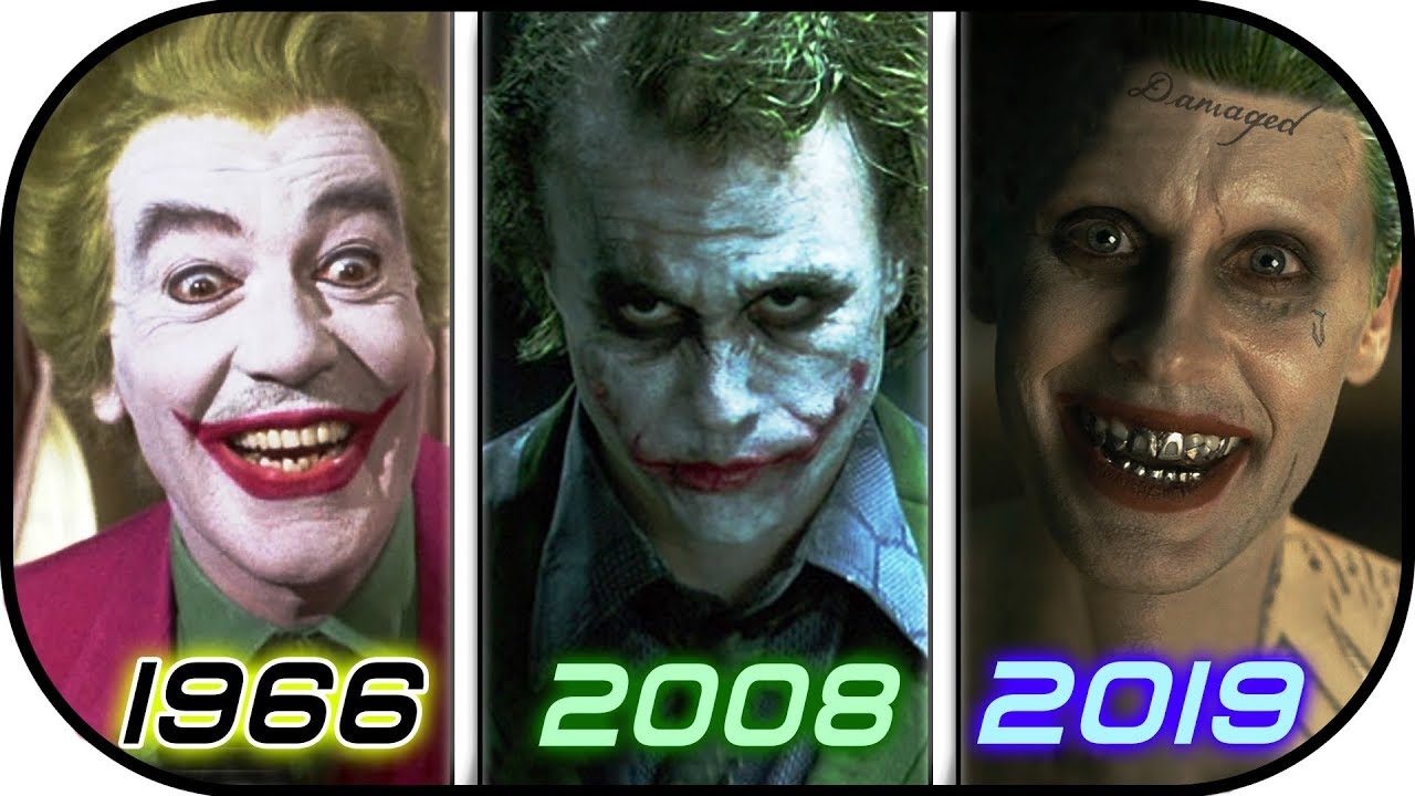 EVOLUTION of JOKER in Movies TV (1966-2019) History of The Joker 2019 / Suicide Squad 2 2019 trailer