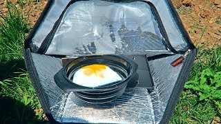 Mini Portable Solar Oven Test