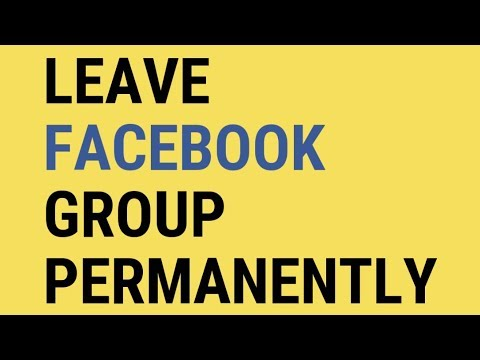 How to leave facebook group, Fb group se kese nikle,