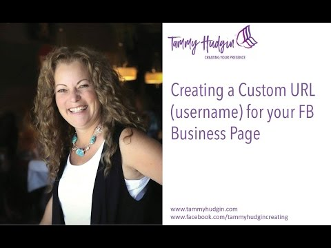 Creating a Custom URL (username) for your Facebook Business Page