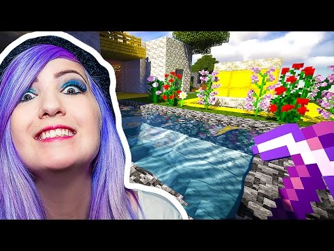 LET'S BUILD A POOL BY THE MANSION! - Minecraft with SabrinaBrite