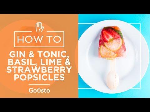 Gin & Tonic, Basil, Lime & Strawberry Popsicles   Gousto