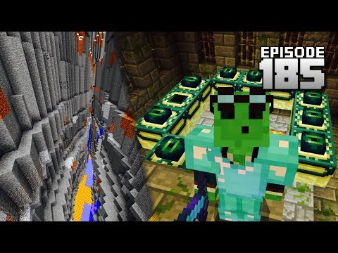 Let's Play Minecraft PE - Ep.185 : END PORTAL!/Largest Ravine Ever!