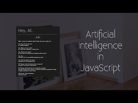 Artificial Intelligence in JavaScript Tutorial 3   Ability to Remember Names