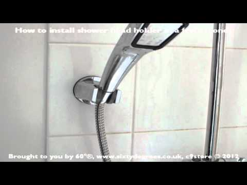 Done in less than 60 seconds! How to install the 60° luxury suction fix shower head holder