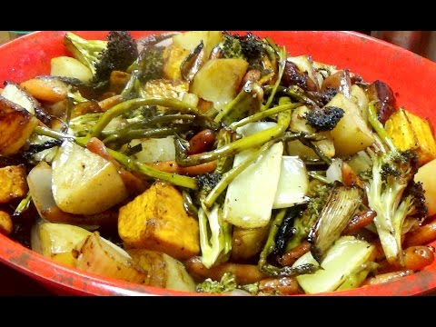 Recipe For or How To Make Roasted Vegetables with a Balsamic Glaze