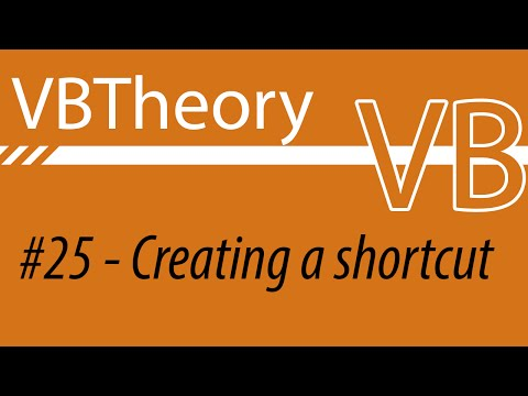 How to create a file shortcut - VB#25