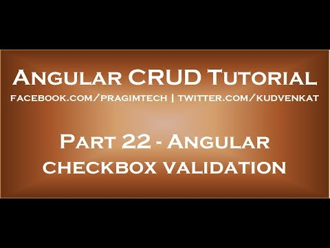 Angular checkbox validation