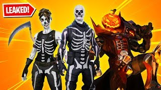 all 13 new halloween skins in fortnite skull trooper skull ranger pumpkin - fortnite new pumpkin skin