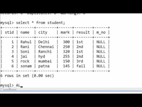 57. ALTER TABLE for adding multiple columns without constraints in SQL (Hindi)