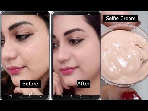 Selfie Cream for Perfect Selfies 🤳(look naturally flawless glowy in every single selfies)