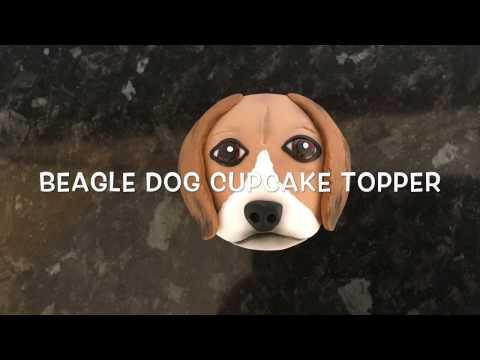 How to make a beagle dog cupcake topper