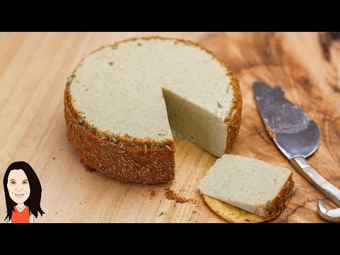 Herb & Garlic Almond Vegan Cheese - It Slices & Melts!
