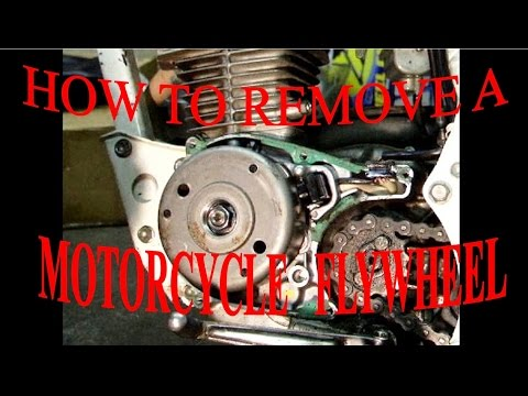 HOW TO REMOVE A MOTORCYCLE FLYWHEEL