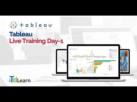 Tableau Live Training Day-01  -  iTeLearn