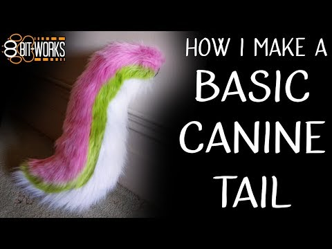 Making a canine fursuit tail - timelapse/tutorial