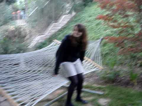 Mel Falling out of a Hammock