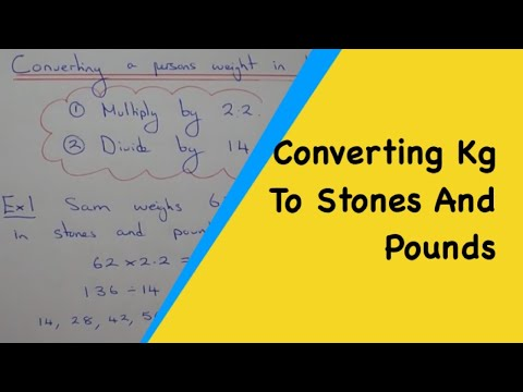 A Quick Method To Change A Persons Weight From Kilograms Into Stones And Pounds