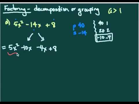 Factoring   decomposition Part 1