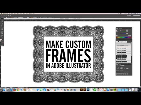 Make Borders & Frames in Adobe Illustrator with Borders Brushes