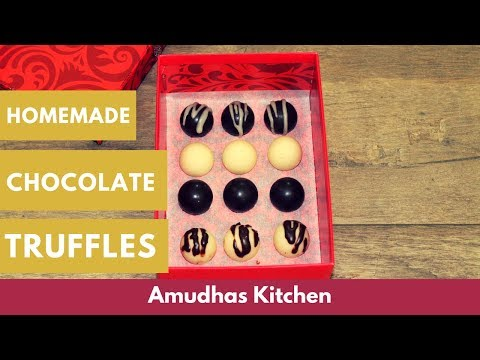 Easy Home made Chocolate Truffles in Tamil | How to make Chocolate Truffles