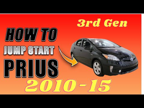 ▶️How to Jump Start 2010 2011 2012 2013 2014 Toyota Prius, Safe for Hybrid