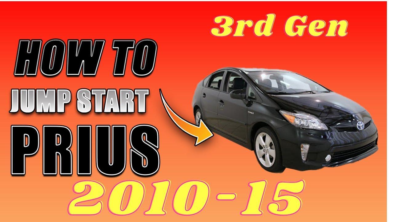 Prius Jump Start Done Safely 2010 2011 2012 2013 2014 2015 Toyota Prius NOT STARTING