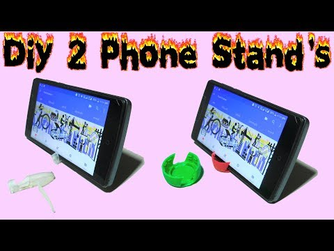 amazing Phone Stand's | how to make phone stand by pen cap and bottle cap | homemade phone stand |