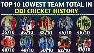Top Lowest Team Total in ODI Cricket History   Lowest Team Score In ODI Cricket History