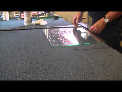 cutting laminated safety glass