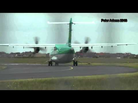 Aer Lingus ATR 42 DEPARTING EGNH BLACKPOOL BPL