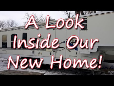 A Quick Look Inside Our New 5th Wheel Home!  Fulltime Family RV - Dorky Thrifters