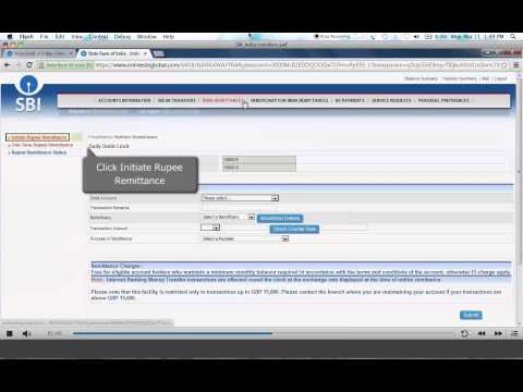 SBI UK  Video Tutorial (4) - Transferring Money to India