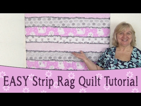 EASY Strip Rag Quilt Tutorial