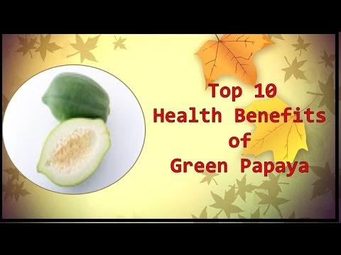 Top 10 Health Benefitsof Green Papaya