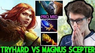 MIRACLE [Windranger] VS Cancer Magnus Scepter Hard Game 7.23 Dota 2