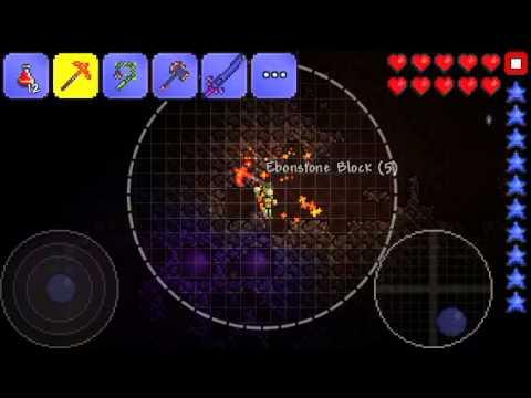 Terreria gp ios getting demonite & shadow armour 4 friends