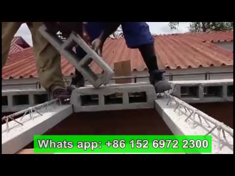 Teach how to build house roof by houdi, hollow pot slab, ceiling beam and concrete blocks faster