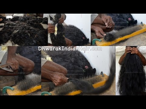 Human Hair Wholesale Factory In Chennai India Raw Temple Hair To Exte