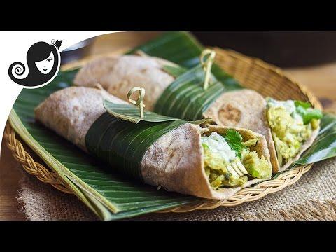 Kalia Jackfruit Curry in a Wrap / Roti | Vegan Vegetarian Recipe