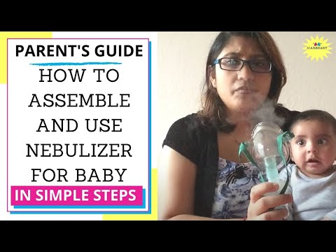 How to use nebulizer for baby suffering from cough and cold Demo