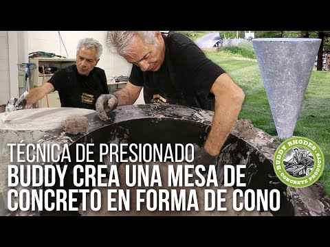 Creando una mesa de concreto en forma de cono con Buddy Rhodes - Técnica de presionado avanzada