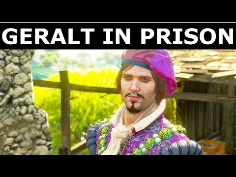 The Witcher 3 Blood and Wine - Dandelion Visits Geralt In Prison -